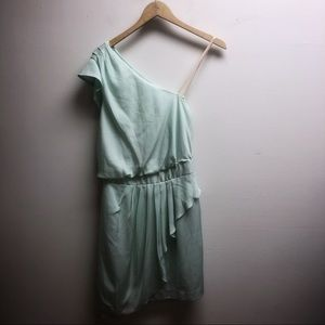 Bcbg 4 one shoulder mint ruffle dress